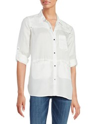 Calvin Klein Jeans Button Front Shirt White