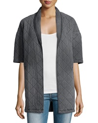 Current Elliott The Quilted Car Coat Analog