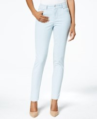 Charter Club Petite Tummy Slimming Striped Cropped Skinny Jeans Only At Macy's
