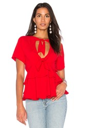 Fame And Partners The Tomasi Top Red