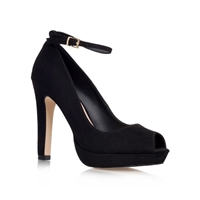 Anete High Heel Peep Toe Court Shoes Black