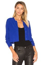 Autumn Cashmere Crop Boxy Cardigan Blue