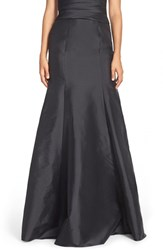 Women's Monique Lhuillier Bridesmaids Floor Length Taffeta Mermaid Skirt Black