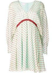 Giamba Heart Print Mini Dress Green
