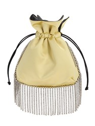 Les Petits Joueurs Nano Trilly Embellished Satin Clutch Gold