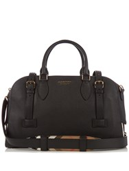 Burberry Bankston Grained Leather Holdall Black