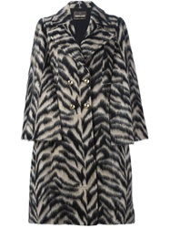 Roberto Cavalli Tiger Print Light Coat Nude And Neutrals