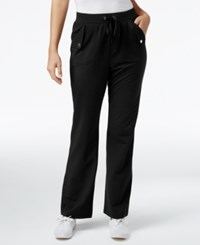 Karen Scott Pull On Drawstring Pants Only At Macy's Deep Black