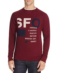 Junk Food Sfo San Francisco Graphic Sweatshirt 100 Bloomingdale's Exclusive Cabernet