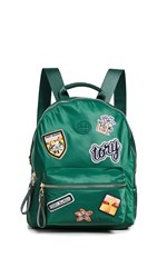 Tory Burch Tilda Patches Zip Backpack Malachite