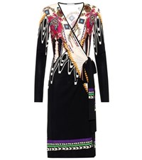 Etro Printed Wrap Style Dress Multicoloured