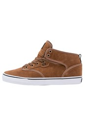 Globe Motley Hightop Trainers Toffee White Brown