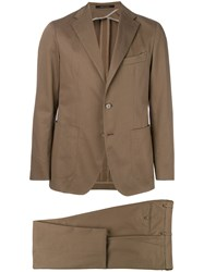 Tagliatore Notched Two Piece Suit Nude And Neutrals