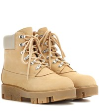 Acne Studios Telde Suede Ankle Boots Beige