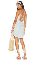 Gypsy 05 X Back Tank Dress Blue