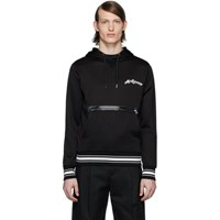 Alexander Mcqueen Black Embroidered Logo Hoodie