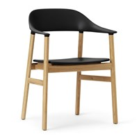Normann Copenhagen Herit Oak Armchair Black