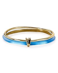 Alexis Bittar Lucite Liquid Metal Stacked Bangles Set Of 2 Azure