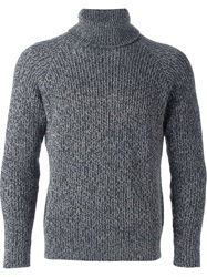 Eleventy Fitted Marled Sweater Grey