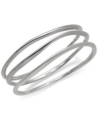 Nambe 3 Pc. Set Signature Bangle Bracelets In Sterling Silver