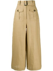 Zimmermann High Waisted Trousers Brown