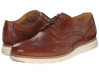 Cole Haan Original Grand Wingtip Woodbury Ivory Men's Lace Up Wing Tip Shoes Brown