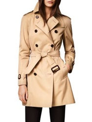 Burberry Westminster Mid Length Heritage Trench Honey