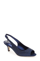J. Renee Women's 'Impuls' Crystal Embellished Slingback Pump Navy Sparkle