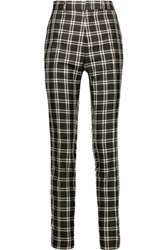 Haider Ackermann Plaid Woven Silk Tapered Pants Black