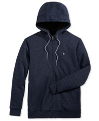 Volcom Men's Charged Zip Up Hoodie Navy