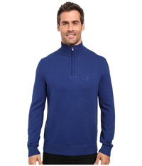 Nautica 9 Gauge 1 4 Zip Sweater Estate Blue Men's Sweater Navy
