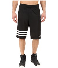 Adidas Made In March 3 Stripe Shorts Black White Men's Shorts