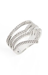 Sole Society Women's Four Band Crystal Ring