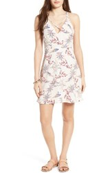 Lush Women's Cross Front Fit And Flare Dress