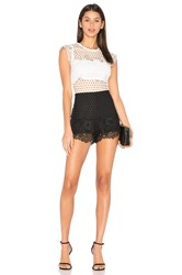 Karina Grimaldi Loriet Lace Romper Black And White