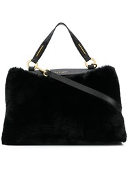 Orciani Faux Fur Tote Black