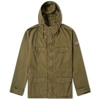 Saint Laurent Gabardine Military Parka Green