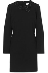 Red Valentino Redvalentino Bow Embellished Crepe Mini Dress Black
