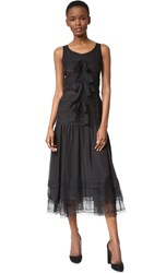 Wgaca Chanel Lace Dress Previously Owned Black