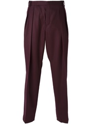 Carven Pleated Trousers Red