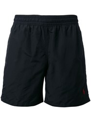 Polo Ralph Lauren Logo Embroidered Swim Shorts Black