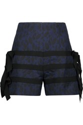 Goen J Embellished Jacquard Shorts Midnight Blue