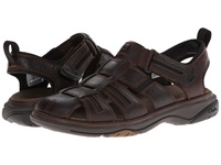 Clarks Charles Brown Oily Leather Men's Sandals
