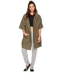Free People Reworked Army Jacket Moss Women's Coat Green