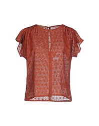 Sessun Shirts Blouses Women Brick Red