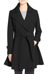 Women's Trina Turk 'Phoebe' Double Breasted Trench Coat Black