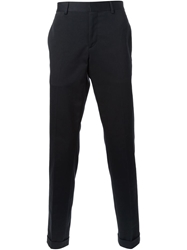 Faconnable Faconnable Flat Front Trousers Blue