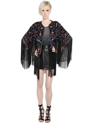 Talitha Floral Embroidered Silk Georgette Jacket