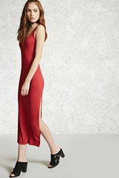 Forever 21 Ribbed Side Slit Maxi Dress