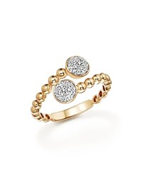 Bloomingdale's Diamond Pave Bypass Ring In 14K Yellow Gold .16 Ct. T.W.